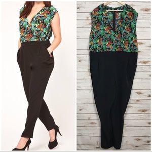 ASOS Tropical Print Jumpsuit